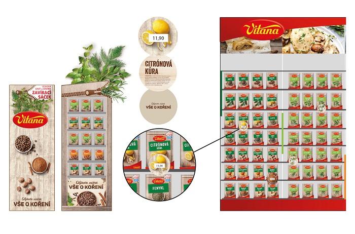 Vítěz v kategorii 2D grafický design dle briefu společnosti Vitana: Zazipovaná čerstvost a chuť od Dominiky Kůrkové