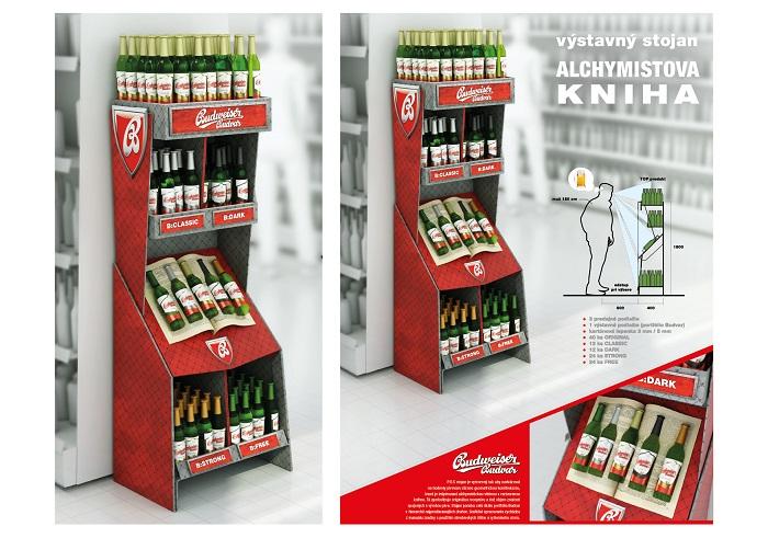 Vítěz v kategorii Design POP materiálu dle briefu společnosti Budějovický Budvar: Alchymistova kniha od Frederika Dedíka