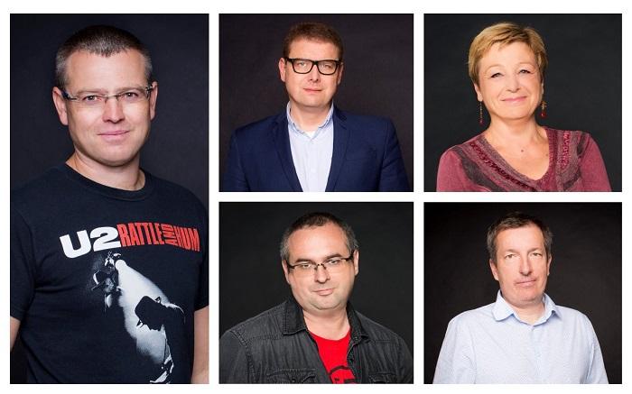 Zleva: Jakub Unger, Jindřich Šídlo, Zuzana Kubátová, Luděk Mádl a Zdeněk John, foto: Seznam.cz