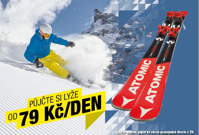 Hervis Sports svou půjčovnu lyží propaguje v outdooru, na internetu i v místě prodeje, foto: Hervis Sports.