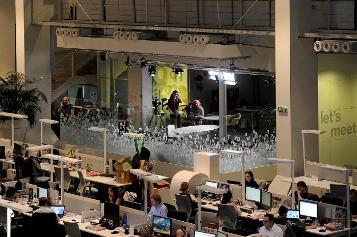 Nové TV studio, foto: Economia