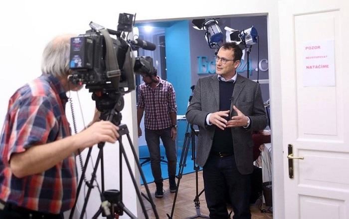 Dalibor Balšínek ve studiu Echo TV, foto: Echo Media, Jan Zatorsky