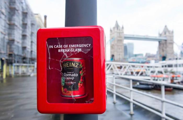 Aktivace značky Heinz: pohotovostní polévka v Londýně, foto: Secret London