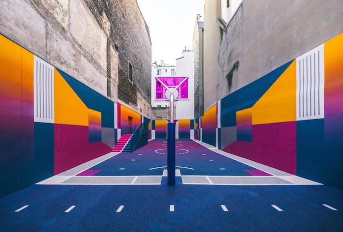 Basketbalové hřiště značky Nike v Paříži, foto: Alex Penfornis