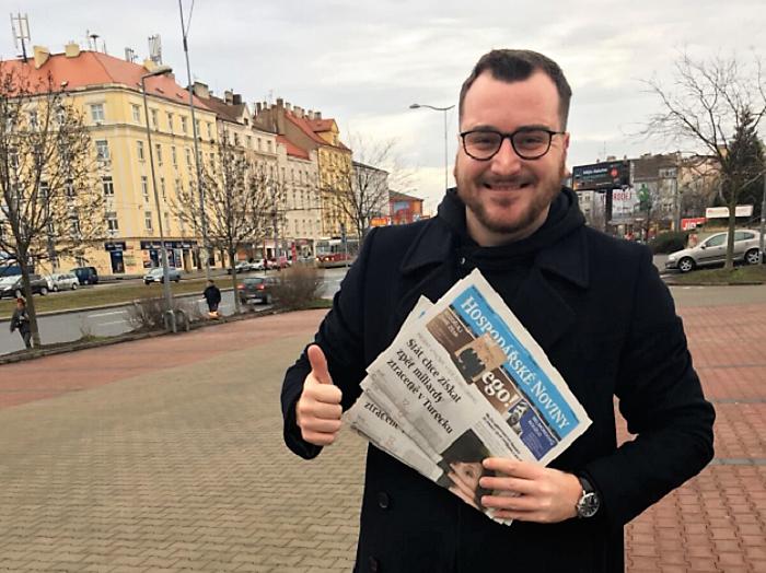 Redaktor Hospodářských novin Jaroslav Kramer, foto: twitterový účet J. Kramera