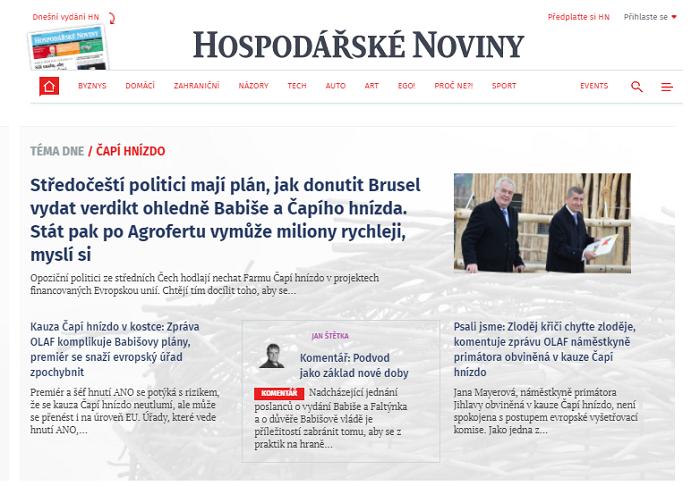 Nová podoba webu IHned.cz