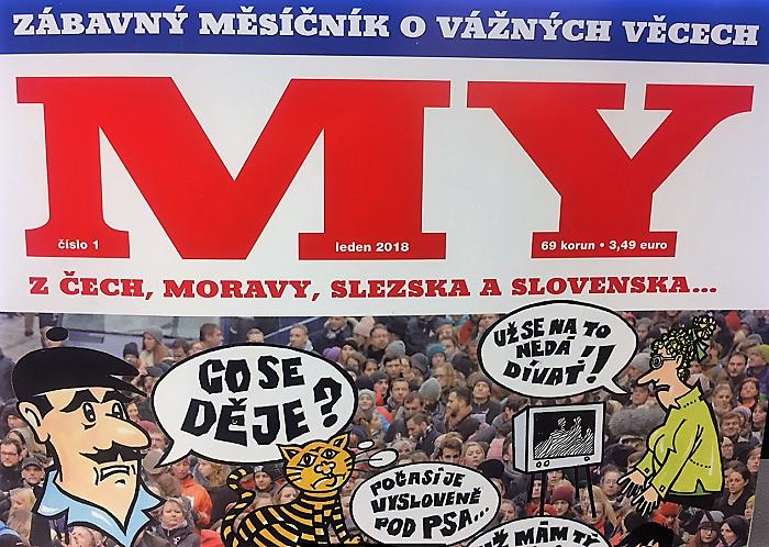 Titulní strana prvního vydání časopisu My