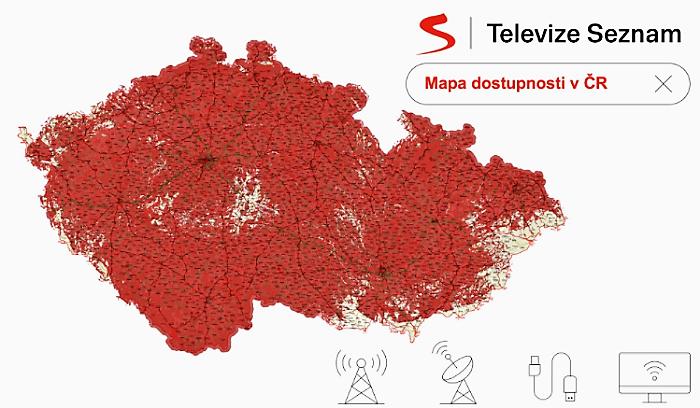 Pokrytí Televize Seznam, zdroj: Seznam.cz