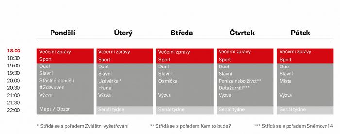 Programové schéma pro prime-time, zdroj: Seznam.cz