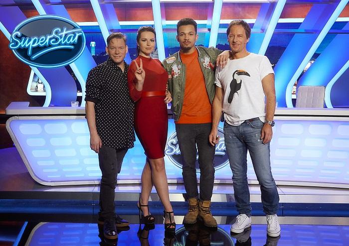 Zleva: Matěj Ruppert, Katarína Knechtová, Ben Cristovao a Pavol Habera, foto: TV Nova