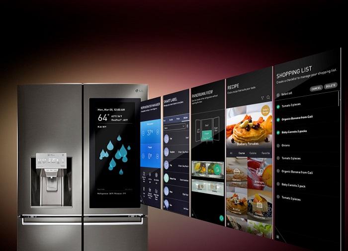 Lednice LG InstaView ThinQ s umělou inteligencí, foto: LG