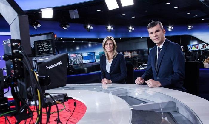 Zpravodajské studio chorvatské Nova TV, foto: Nova TV