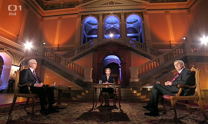Prezidentský duel - finále, repro vysílání ČT