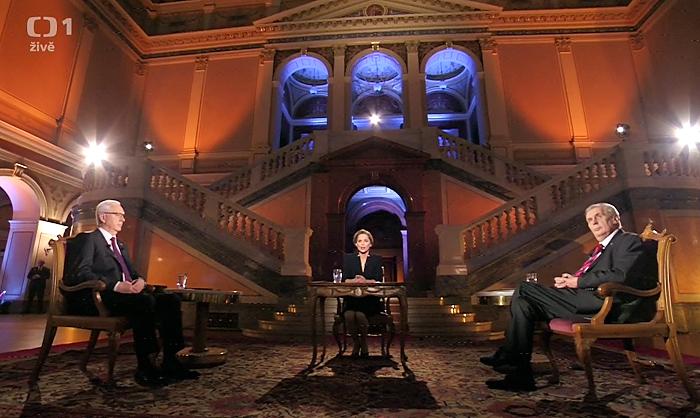 Prezidentská debata v Rudolfinu, repro ČT