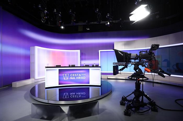 Studio pro volební prezidentské vysílání TV Nova, foto: TV Nova