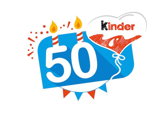 K 50. výročí bude značka Kinder využívat narozeninové logo, zdroj: Ferrero