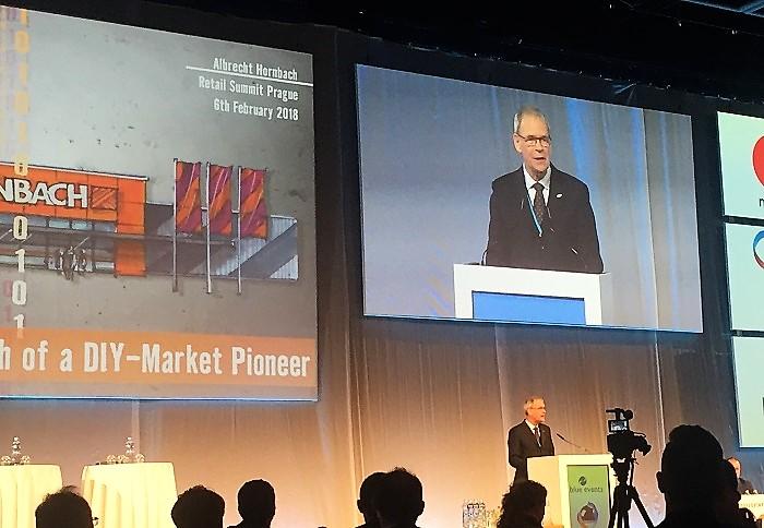 Albrecht Hornbach na Retail Summitu 2018, foto: MediaGuru.cz
