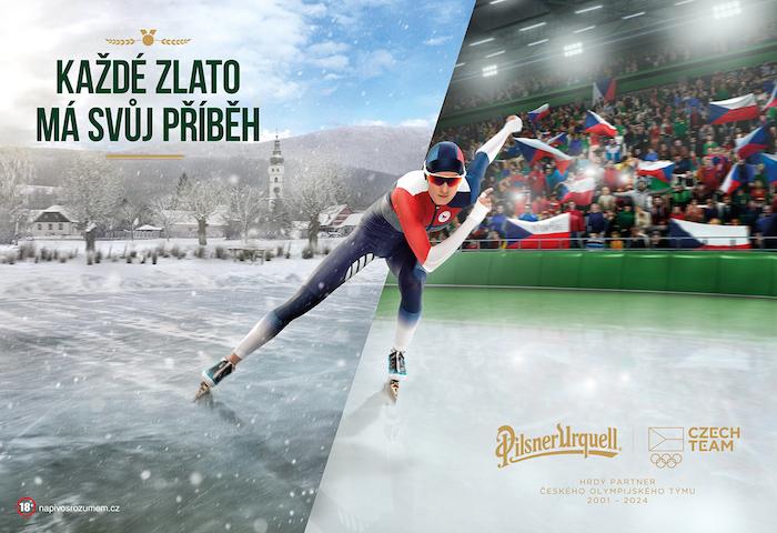 Klíčový vizuál olympijské kampaně značky Pilsner Urquell, zdroj: Triad