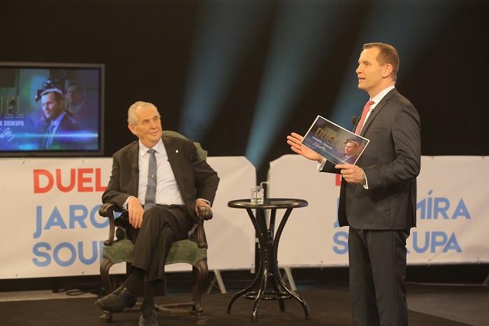 Duel Jaromíra Soukupa - prezidentský speciál, foto: TV Barrandov