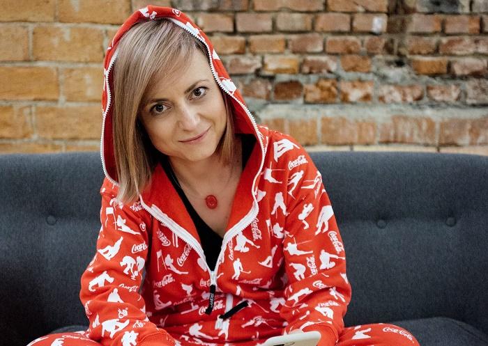 Zuzana Kadlečková v olympijských fandících dupačkách, foto: Coca-Cola