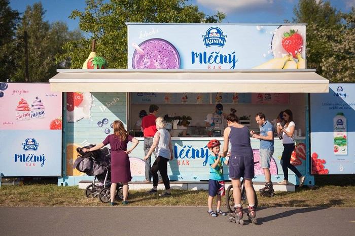 Mléčný bar Mlékárny Kunín na Modřanské cyklostezce v Praze, foto: FB Mlékárna Kunín