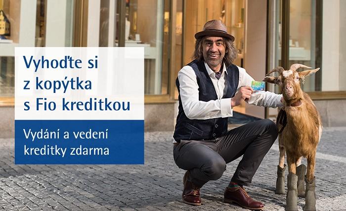 Klíčový vizuál kampaně Fio banky na kreditní karty, zdroj: Fio banka