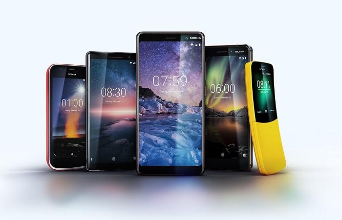Nokia 1, Nokia 8 Sirocco, Nokia 7 Plus, Nokia 6 a Nokia 8110