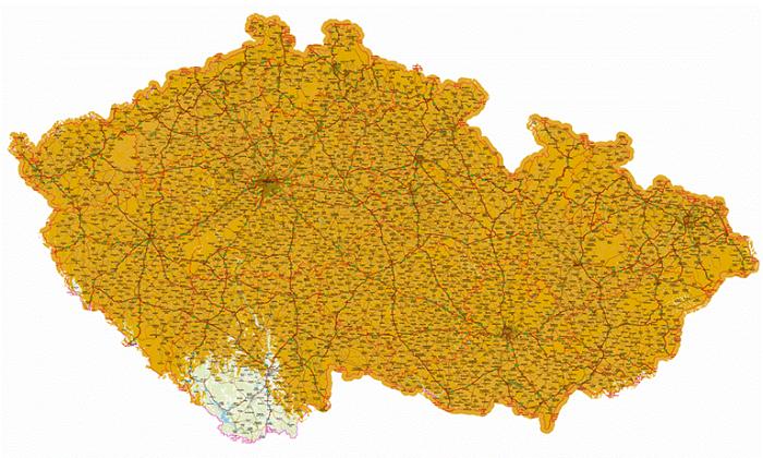 Aktuální pokrytí přechodové sítě DVB-T2, zdroj: České Radiokomunikace