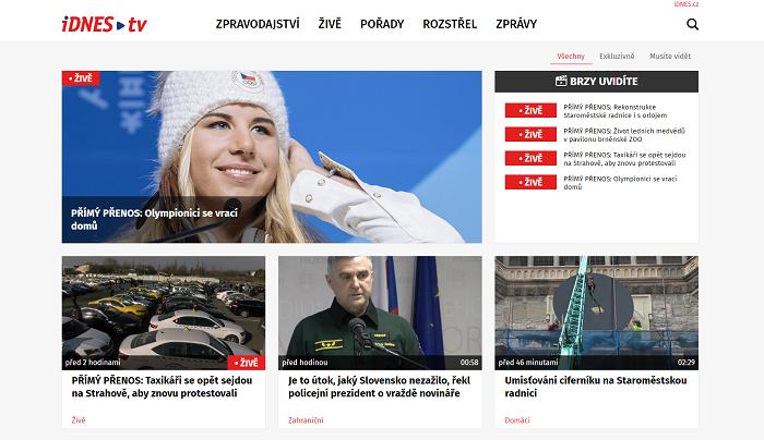 Nová podoba iDnes.tv, foto: Mafra