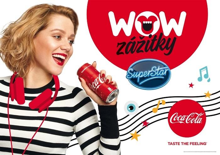 Klíčový vizuál k soutěži o WOW zážitky, zdroj: Coca-Cola