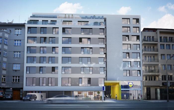V červnu Lidl otevře novou prodejnu v bytovém komplexu v Karlíně, zdroj: Lidl