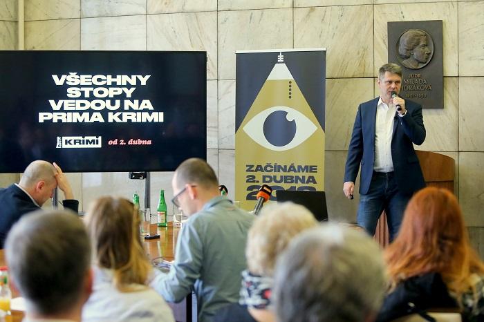 Marek Singer na tiskové konferenci, foto: FTV Prima