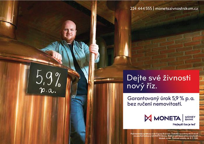 Klíčový vizuál jarní kampaně Monety Money Bank, zdroj: MMB