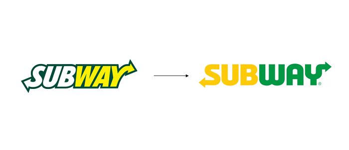 Změna loga Subway