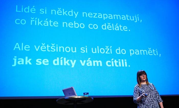Maru Kortanová na konferenci Brandstorming, foto: Internet Info