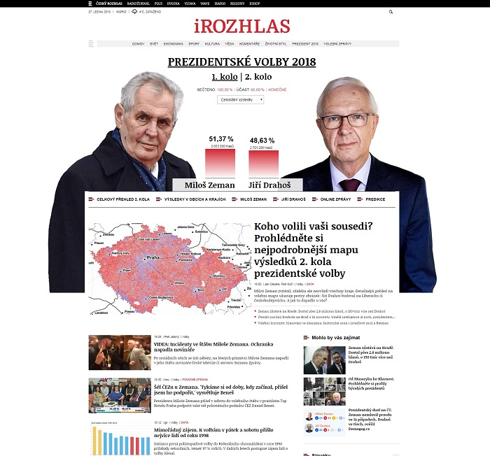 Design stránek iRozhlas.cz, leden 2018