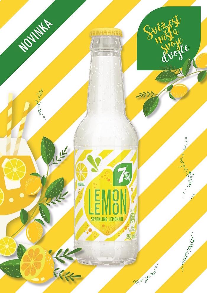 Klíčový vizuál nové limonády Lemon Lemon, zdroj: PepsiCo