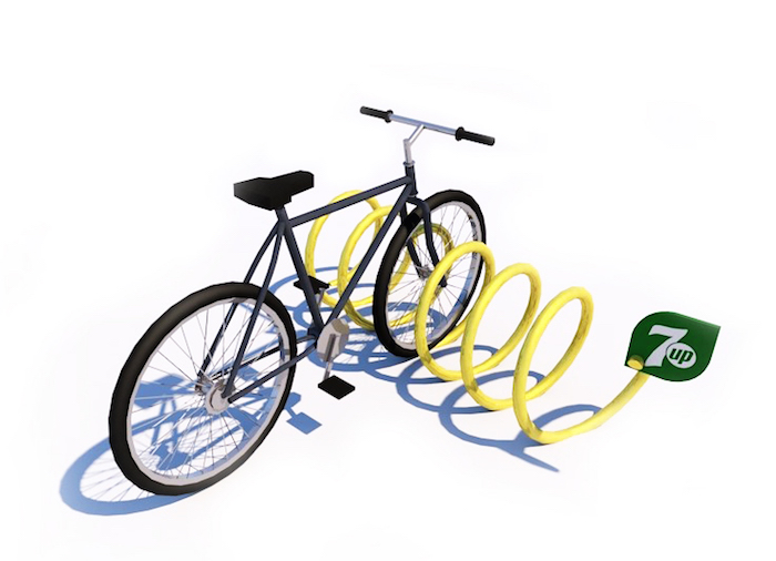 Vizualizace stojanu na kola značky Lemon Lemon, zdroj: PepsiCo