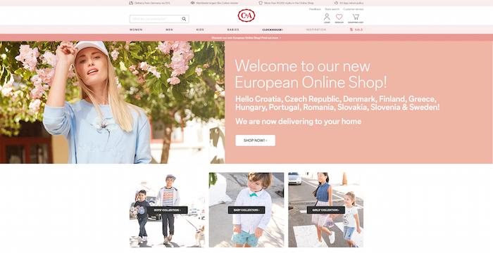 C&A spouští na českém trhu evropský e-shop, zdroj: C&A.