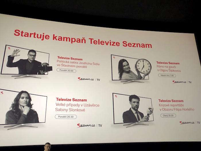 Podoba kampaně Televize Seznam, foto: MediaGuru.cz