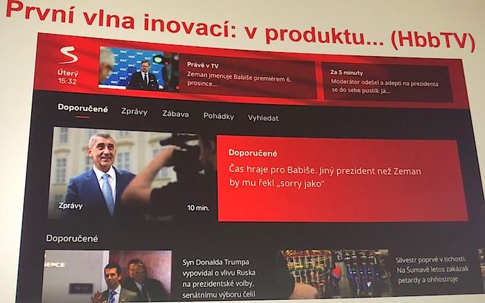Nová podoba HbbTV Televize Seznam, foto: MediaGuru.cz