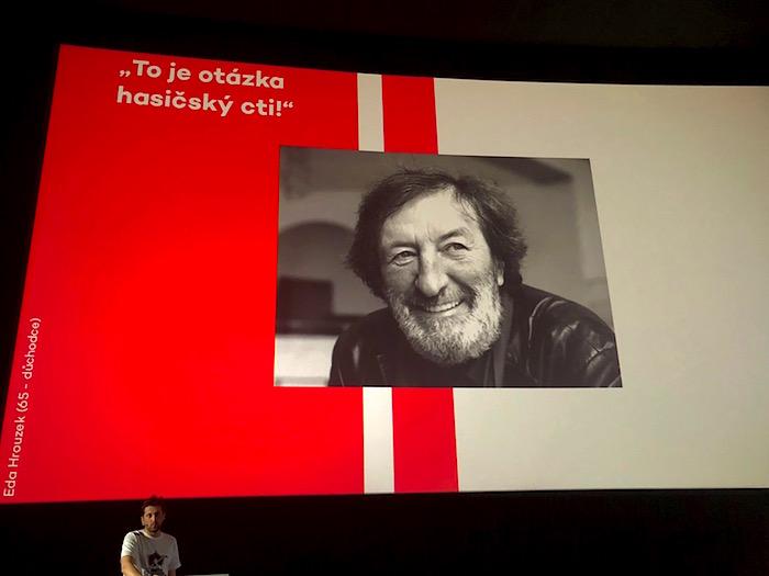 Daniel Strejc představuje na konferenci Seznam Forum nový seriál s Bolkem Polívkou, foto: MediaGuru.cz