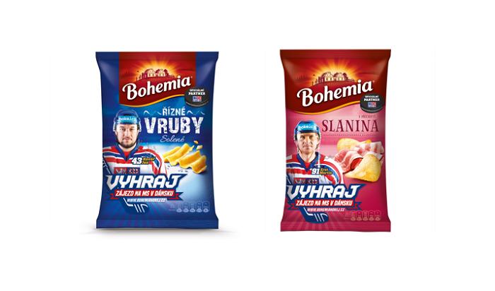Ukázka limitované hokejové edice značky Bohemia, zdroj: Intersnack