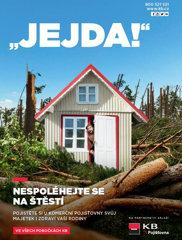 Klíčový vizuál dubnové kampaně Komerční pojišťovny, zdroj: KB