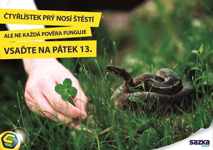Klíčový vizuál kampaně Sazky k pátku třináctého, zdroj: Sazka
