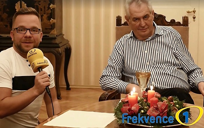 Luboš Procházka s Milošem Zemanem, foto: Frekvence 1