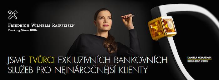 Klíčový vizuál reklamní kampaně privátního bankovnictví Friedrich Wilhelm Raiffeisen, zdroj: RB
