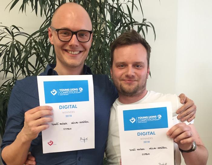 Staronoví vítězové kategorie Digital Tomáš Hrábek a Václav Krbůšek, foto: Lionhearted