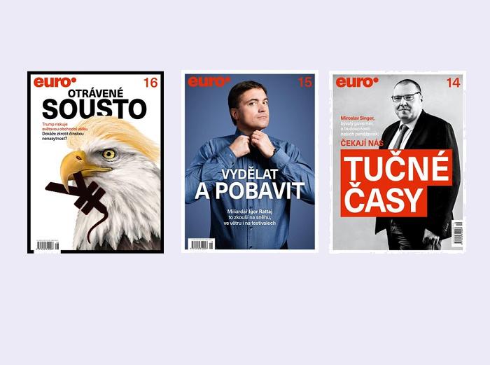 Foto: repro titulních stránek týdeníku Euro