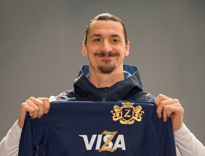 Zlatan Ibrahimović se stal tváří globální fotbalové kampaně značky Visa, foto: Visa.